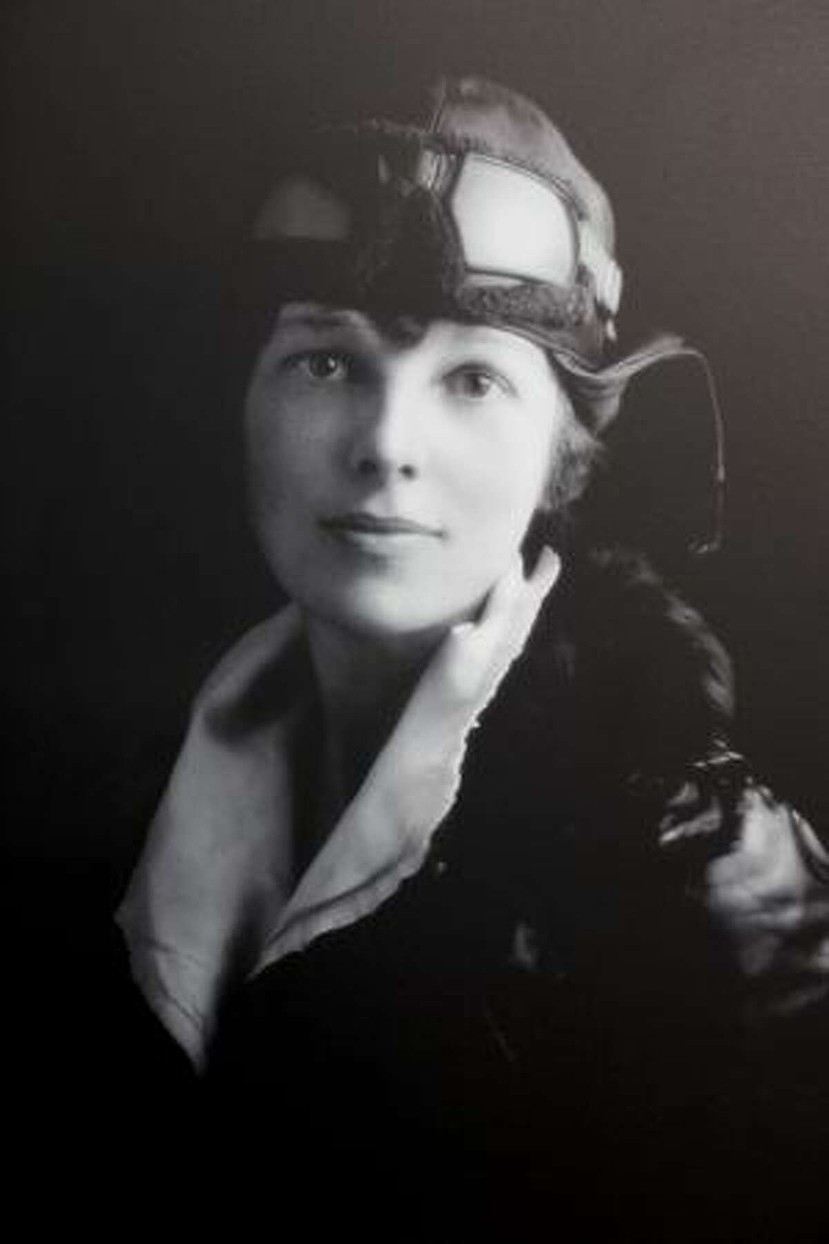 Amelia Earhart's photo taken for her pilot's license at the new Amelia Earhart exhibit at The Museum of Flight. The exhibit opens on Saturday October 24, 2009.