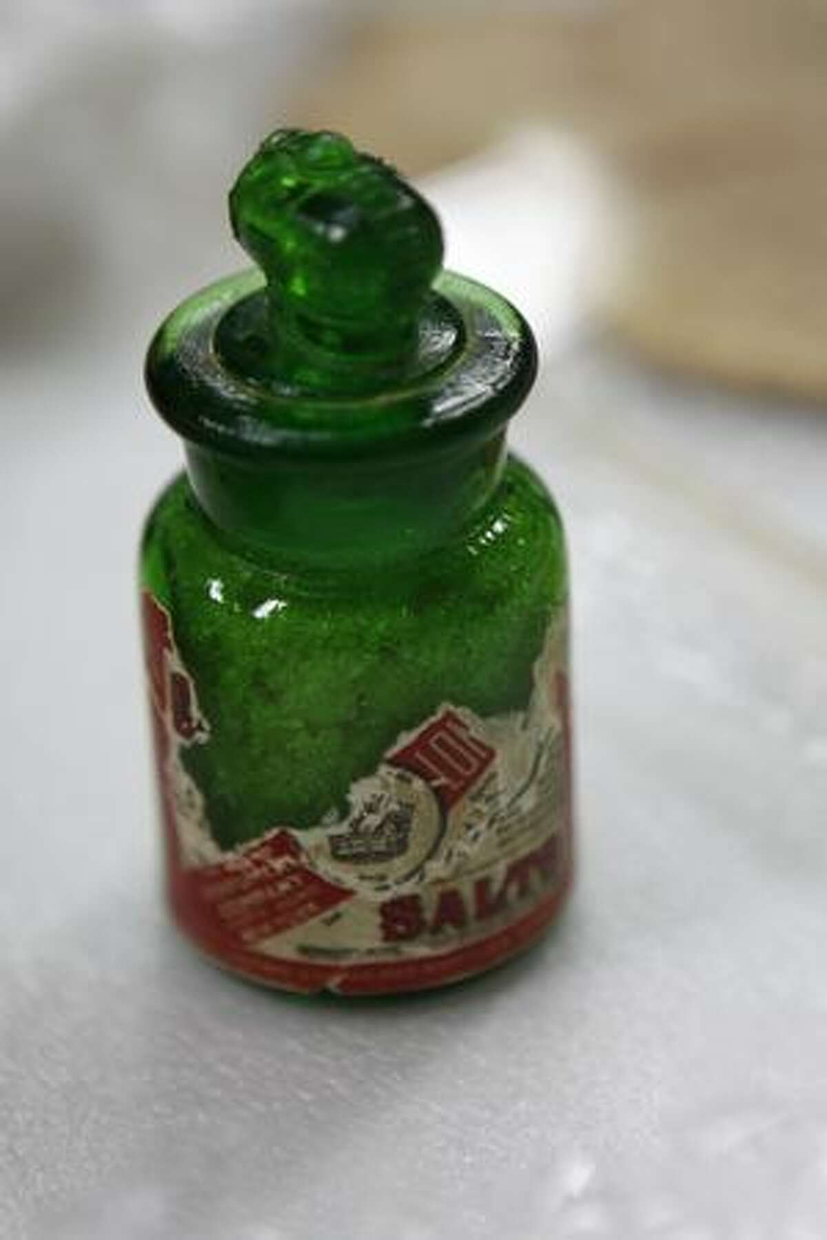 Earhart's smelling salts are part of the new exhibit at The Museum of flight. The exhibit opens Ocober 24, 2009.
