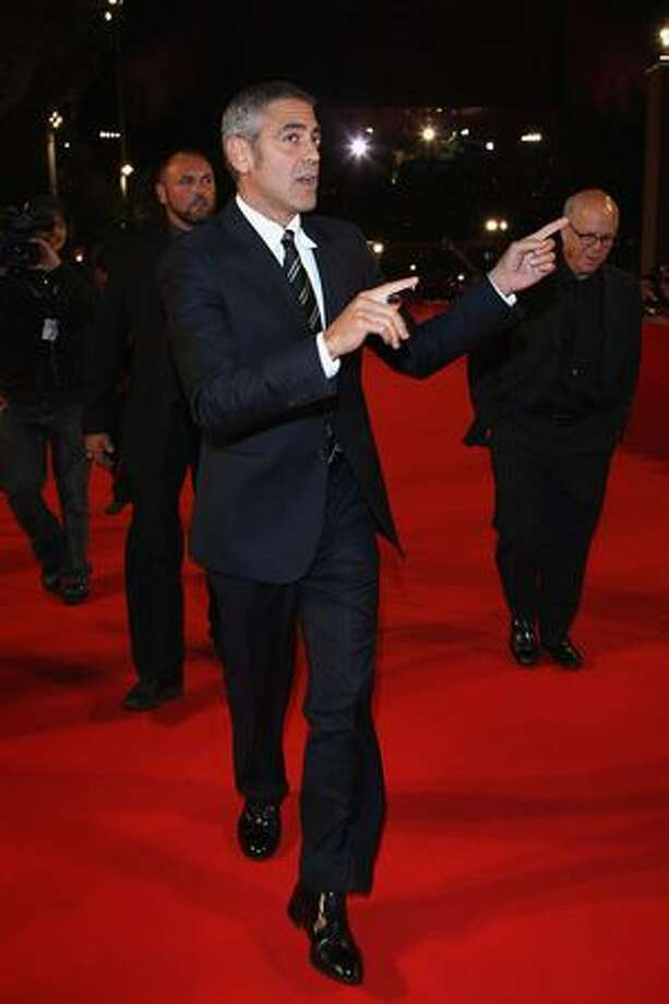 "Actor George Clooney attends the premiere of ""Up in the Air"" during the third day of the 4th Rome International Film Festival held at the Auditorium Parco della Musica on Oct. 17. Photo: Getty Images"