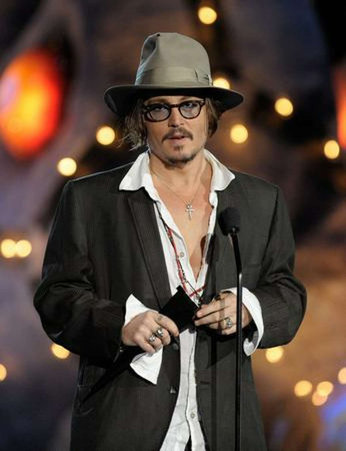 Actor Johnny Depp presents the Rock Immortal award onstage during Spike TV's Scream 2009 awards show held Oct. 17 in Los Angeles.