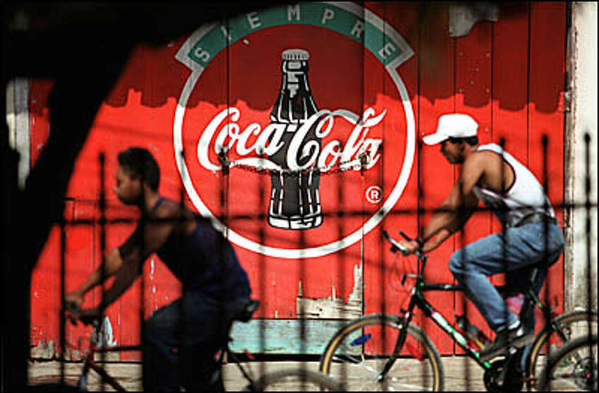 American brands such as Coca-Cola and Nike are everywhere in Honduras, and symbolize the allure North America has for the nation's young people.