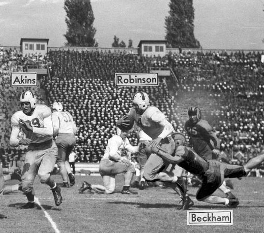 A Sept. 1943 game scene. Photo: P-I File