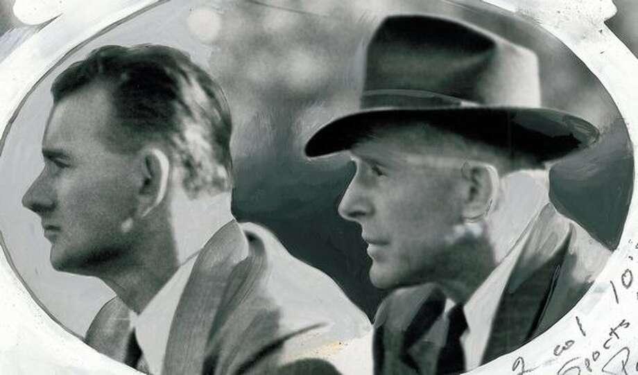 Jimmy Phelan, left, Sept. 1946. Photo: P-I File