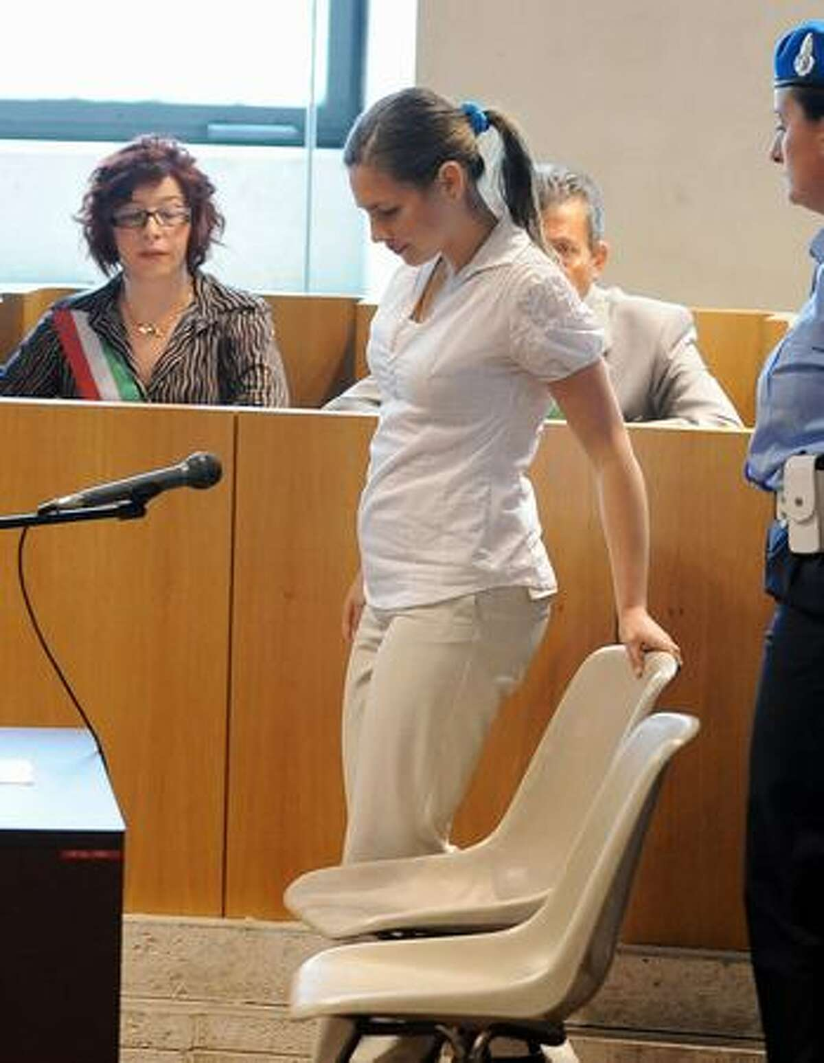 U.S.'s Amanda Knox, accused of killing her British housemate two-years ago, takes place for her trial on Friday in Perugia. Knox will testify during this court session for the first time in her sex-murder trial, with the American accused of taking part in the 2007 killing of her British housemate Meredith Kercher in Italy.