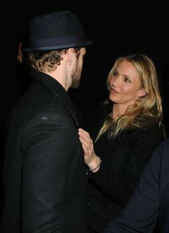 Musician Justin Timberlake and actress Cameron Diaz at the Hope For Haiti Now telethon in Los Angeles. Photo: Getty Images