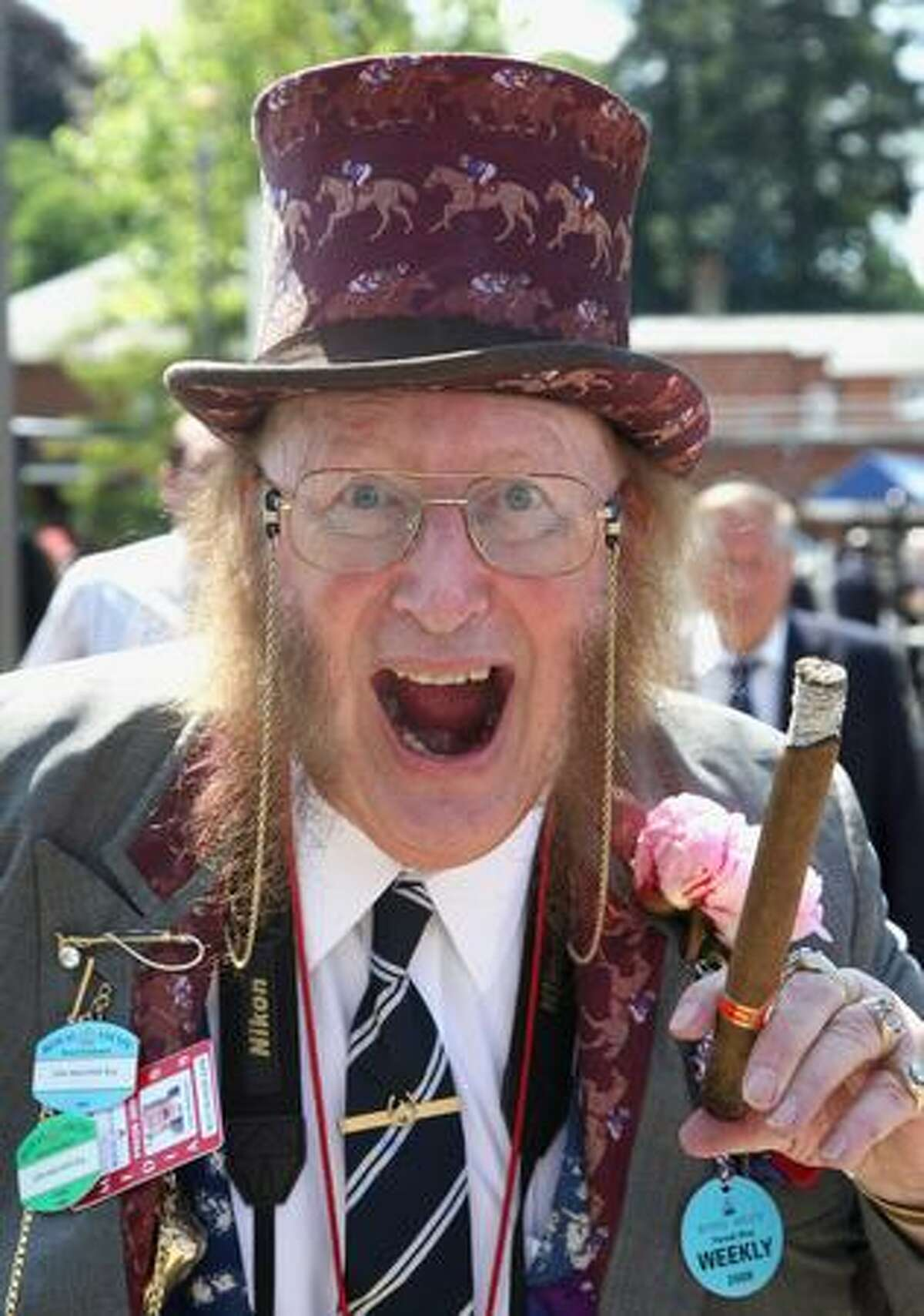 Racing pundit John McCririck poses on the first day of Royal Ascot 2009 at Ascot Racecourse in Ascot, England.