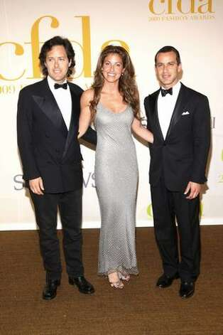 From left, David Lauren, Dylan Lauren and Andrew Lauren, the children of Ralph and Ricky Lauren. Photo: Getty Images