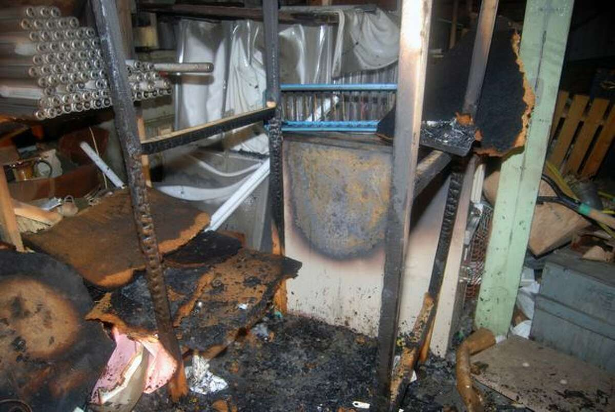 A Seattle police photo of the damage incurred from a fire at the OK Corral, 8700 block of Greenwood Avenue North. (Seattle Police Department Photo)