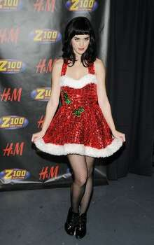 Katy Perry poses in the press room during Z100's Jingle Ball at Madison Square Garden on Dec. 12, 2008 in New York. Photo: Getty Images