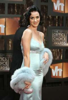 Katy Perry arrives on the red carpet at VH1's 14th annual Critics' Choice Awards held at the Santa Monica Civic Auditorium on Jan. 8, 2009 in Santa Monica, Calif.. Photo: Getty Images