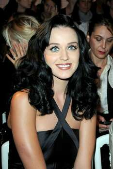 Katy Perry attends the Jean-Paul Gaultier fashion show during Paris Fashion Week Spring/Summer 2010 on Oct. 3, 2009 in Paris, France. Photo: Getty Images