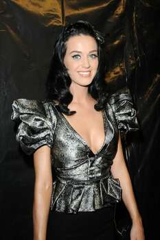 Katy Perry poses backstage during the Louis Vuitton fashion show as part of the Paris Fashion Week Spring/Summer 2010 at Cour Carree du Louvre on Oct. 7, 2009 in Paris, France. Photo: Getty Images