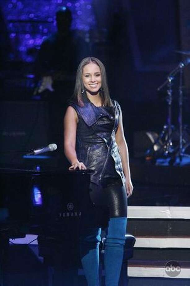 Recording artist Alicia Keys performed on Tuesday's results show. Photo: ABC