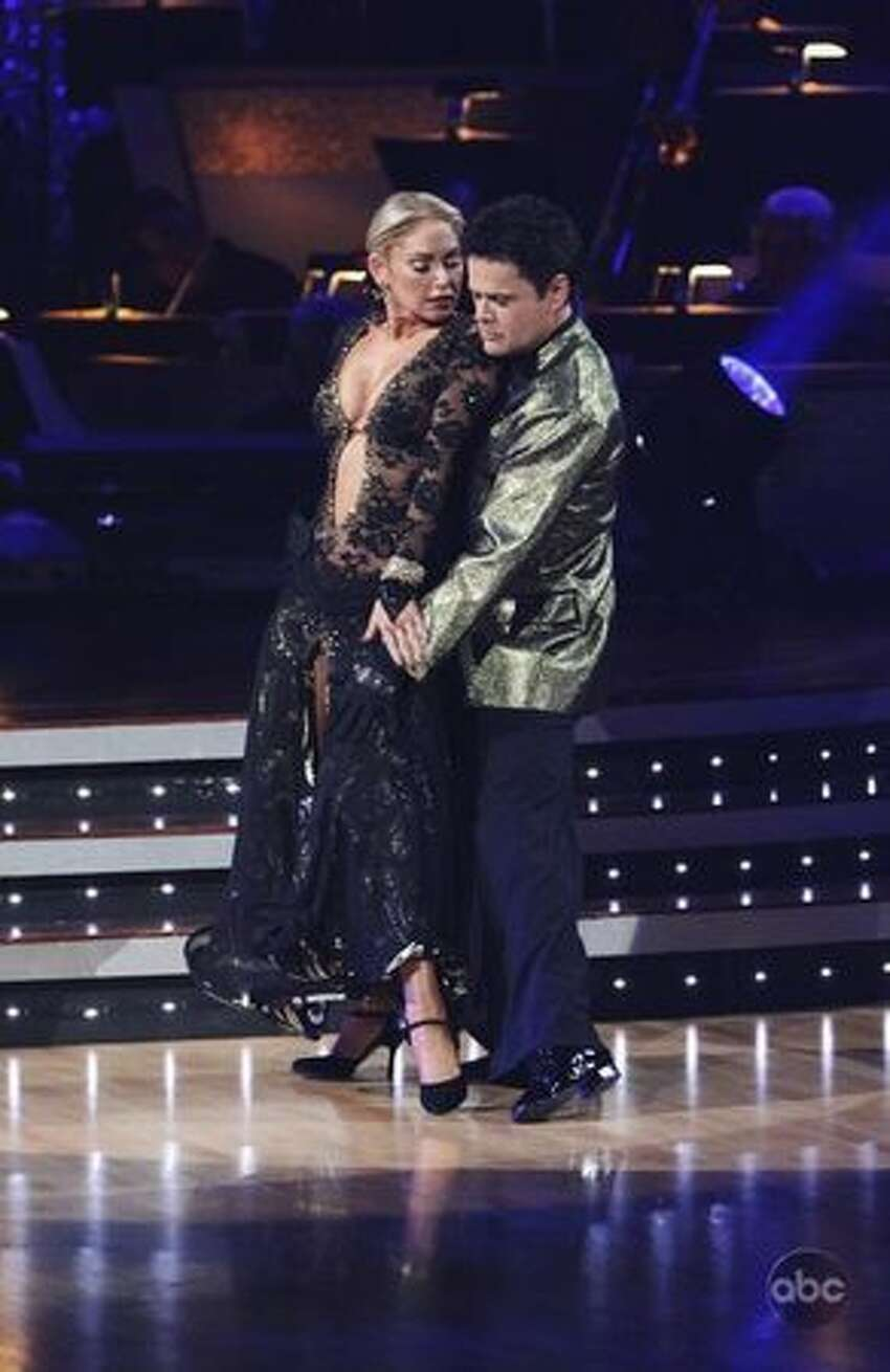 Professional dancer Kym Johnson and singer Donny Osmond.