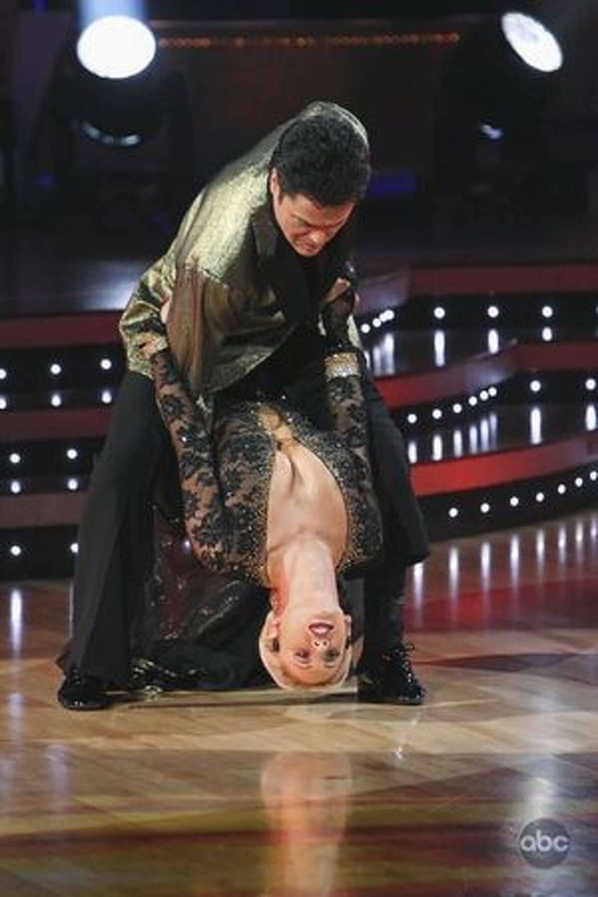 Professional dancer Kym Johnson and singer Donny Osmond.