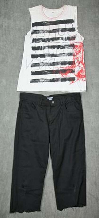 "The outfit of William ""wiL"" Francis frontman for Seattle horrorcore upstarts Aiden. Worn during the ""Taste of Chaos"" tour in 2007.  (Hard Rock International)"