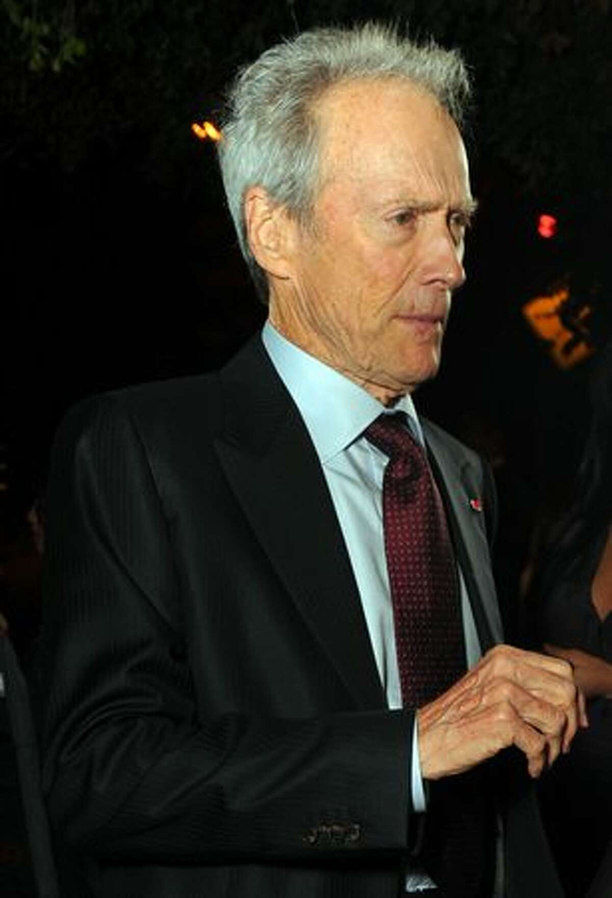 Actor/director Clint Eastwood attends the party.