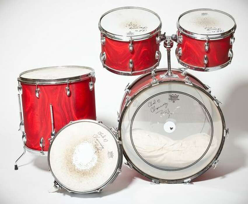Nirvana drummer Chad Channing's slingerland drum kit. An early drummer for the band, Channing used the set to play on their debut album,