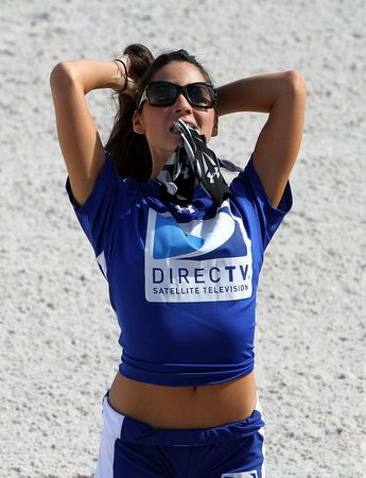 Actress Olivia Munn attends the Fourth Annual DIRECTV Celebrity Beach Bowl at DIRECTV Celebrity Beach Bowl Stadium: South Beach on February 6, 2010 in Miami Beach, Florida.