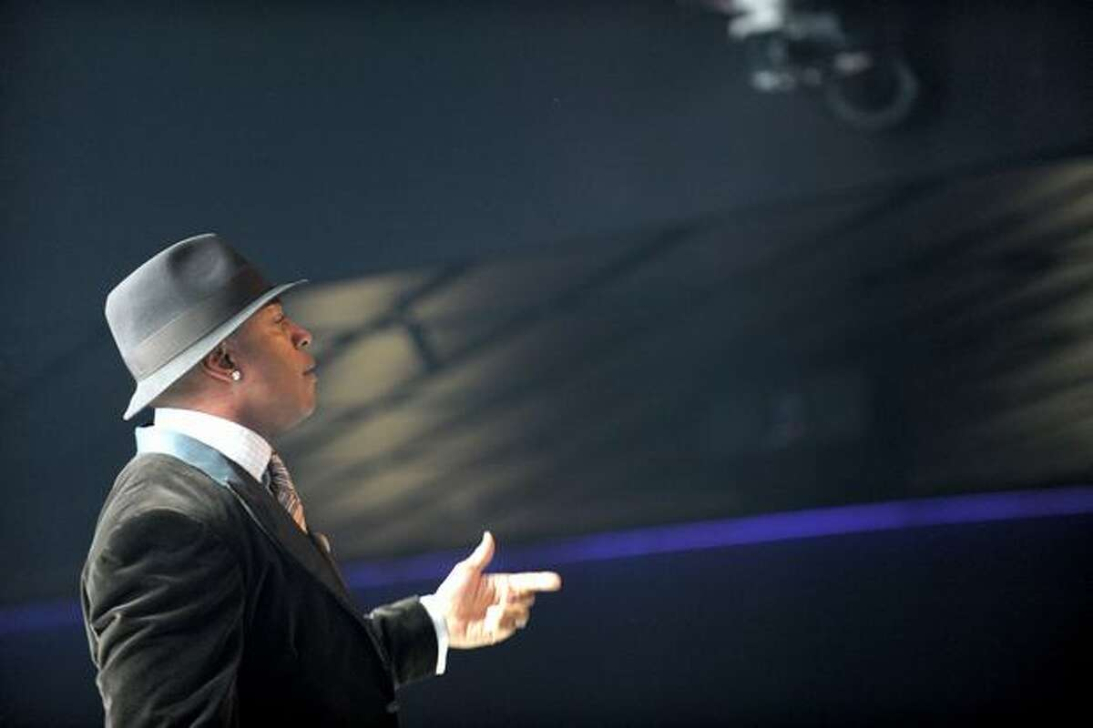 Host LL Cool J speaks during The GRAMMY Nominations Concert Live! at the Club Nokia on December 2, 2009 in Los Angeles, California.