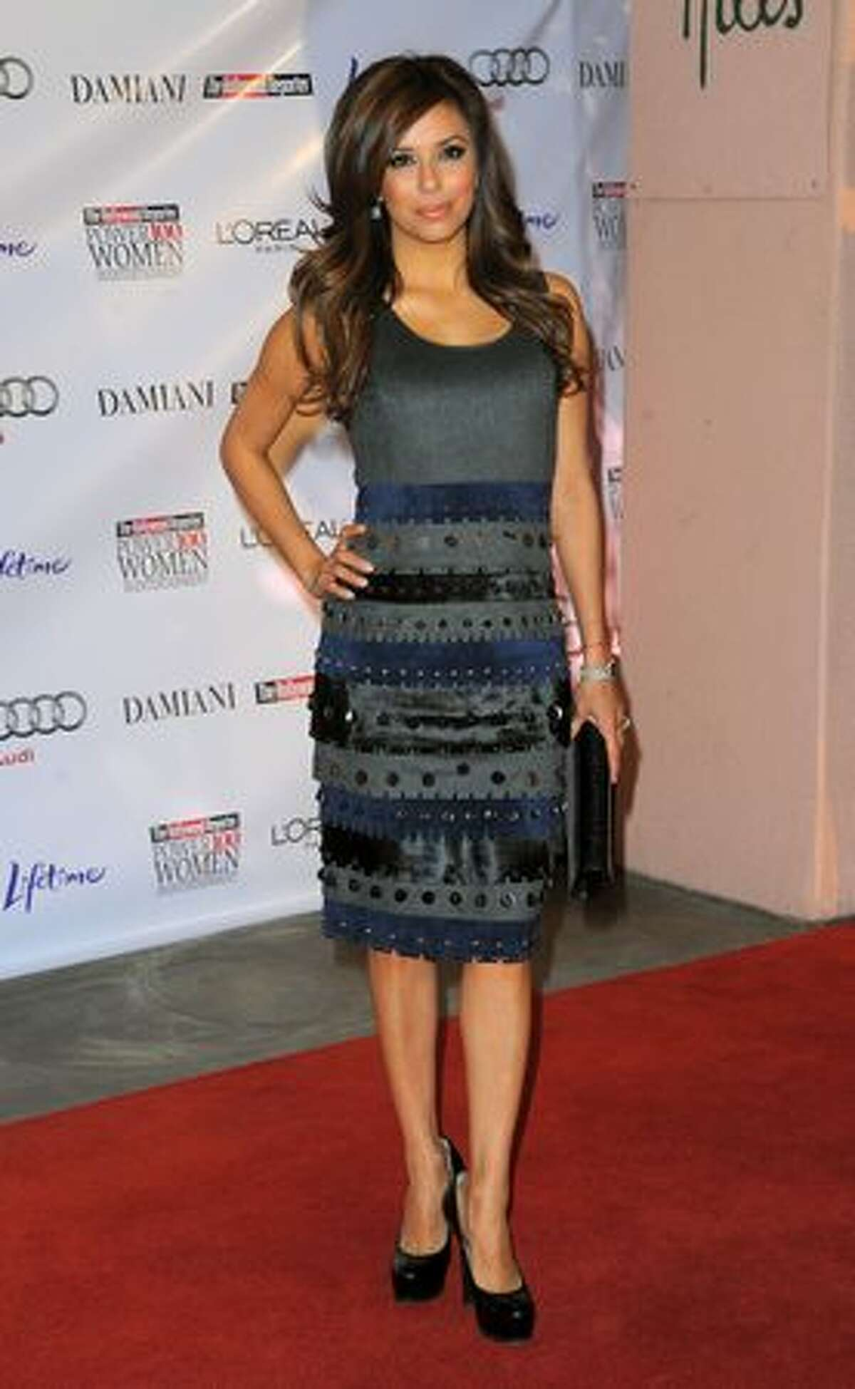 Actress Eva Longoria Parker arrives at the Hollywood Reporter's Annual Women in Entertainment Breakfast.