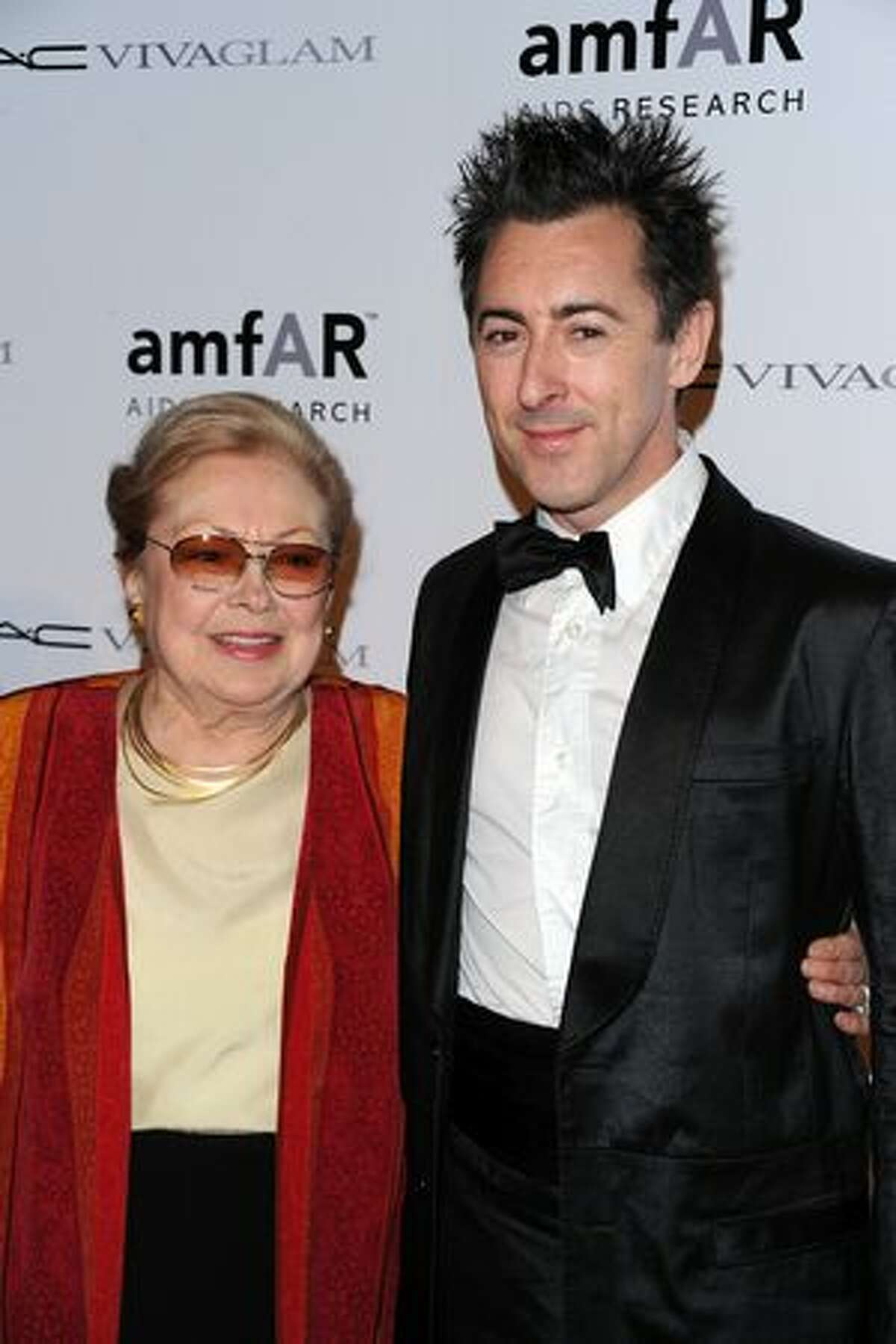 Dr. Mathilde Krim and actor Alan Cumming attend the amfAR New York Gala co-sponsored by M.A.C. Cosmetics to Kick Off Fall 2010 Fashion Week at Cipriani 42nd Street in New York, New York.