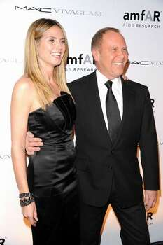 Heidi Klum and designer Michael Kors the amfAR New York Gala co-sponsored by M.A.C. Cosmetics to Kick Off Fall 2010 Fashion Week at Cipriani 42nd Street in New York, New York. Photo: Getty Images