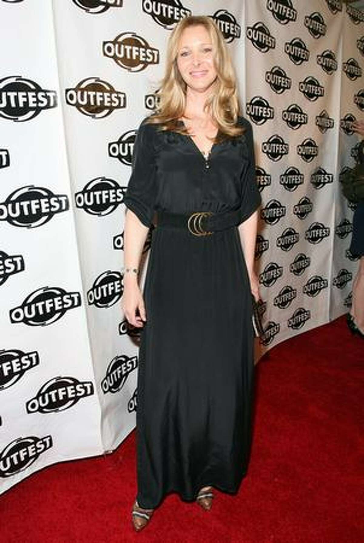 Actress Lisa Kudrow arrives to the 2009 Outfest opening night gala of 'La Mission' held at The Orpheum Theatre in Los Angeles, California.