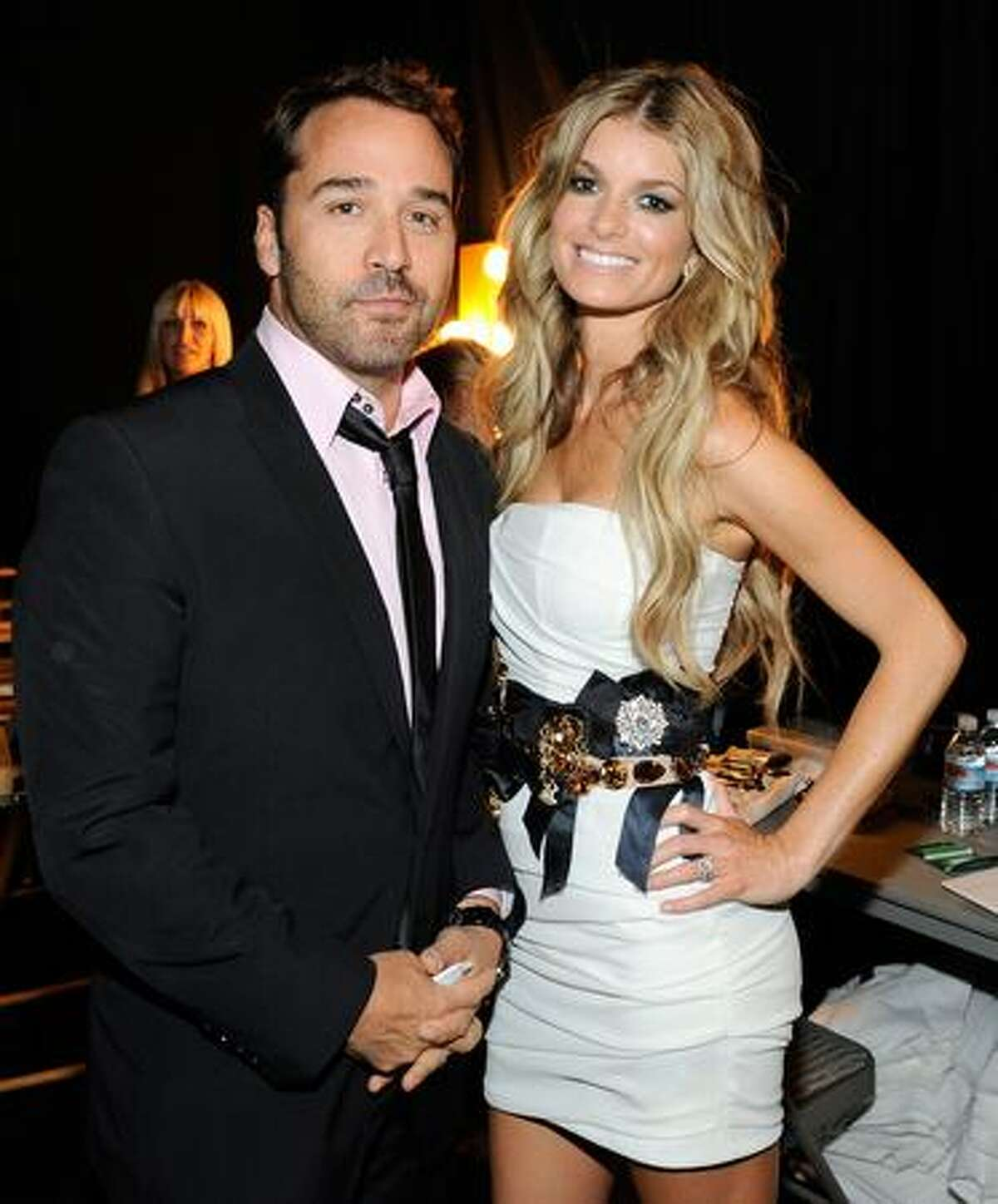 Actor Jeremy Piven (left) and model Marisa Miller pose backstage during the 2009 ESPY awards held at Nokia Theatre LA Live in Los Angeles on Wednesday, July 15, 2009. The 17th annual ESPYs will air on Sunday, July 19 at 6 p.m. PDT on ESPN.