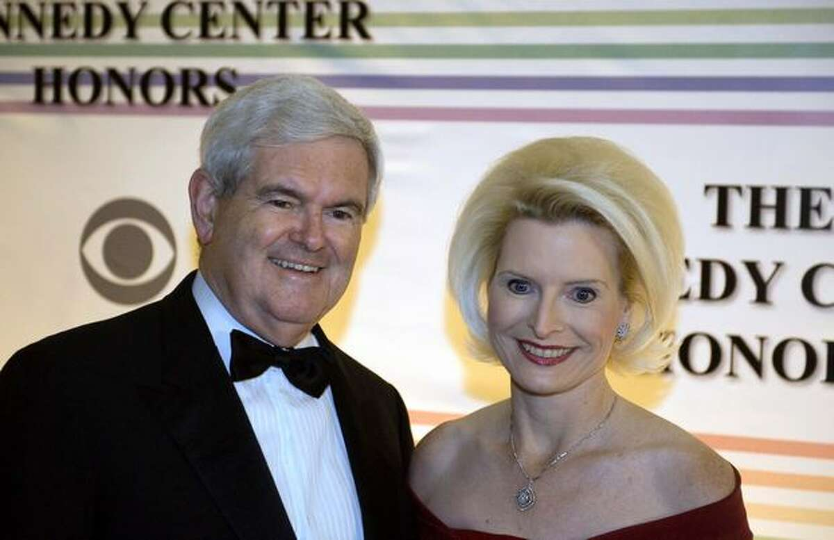 Former speaker of the US House of Representatives Newt Gingrich and his wife Callista arrive at the Kennedy Center Honors awards ceremony.