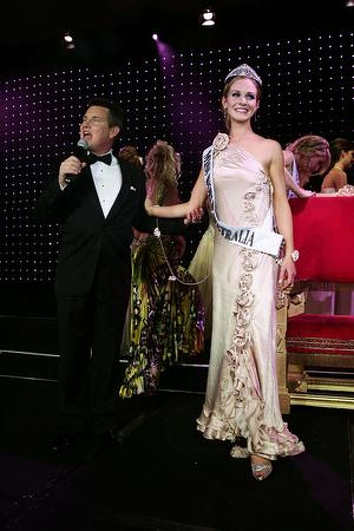 Sophie Laver is crowned Miss World Australia 2009 at the ceremony at Star City in Sydney, Australia.