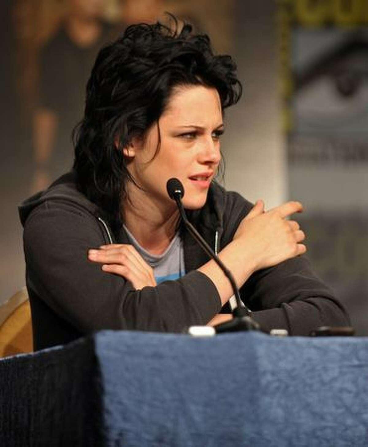 Actress Kristen Stewart speaks at