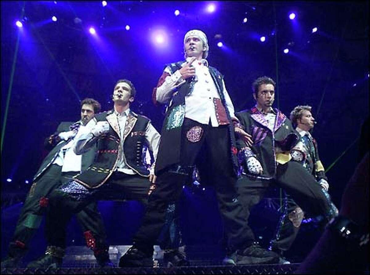 'N Sync members Joey Fatone,