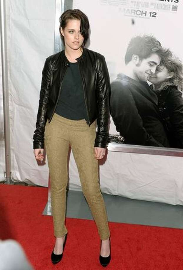 "NEW YORK - MARCH 01: Actress Kristen Stewart attends the premiere of ""Remember Me"" at the Paris Theatre on March 1, 2010 in New York City. Photo: Getty Images"