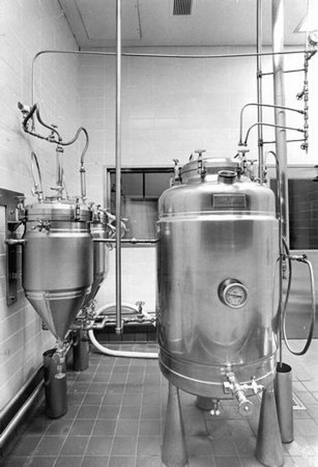 Yeast cultures at Rainier Brewery, October 1975. Photo: P-I File