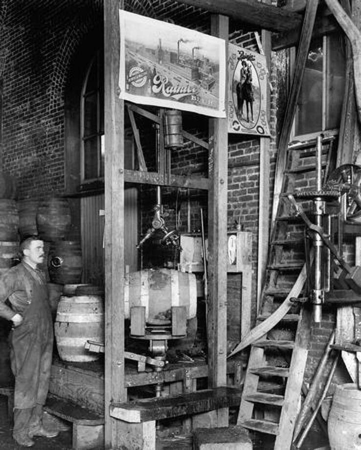 An undated photo taken at the Rainier Brewery. Photo: P-I File