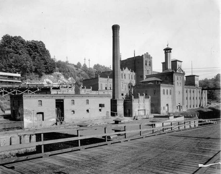 Front view of Seattle Brewing and Malt Company's plant. Undated photo Photo: P-I File