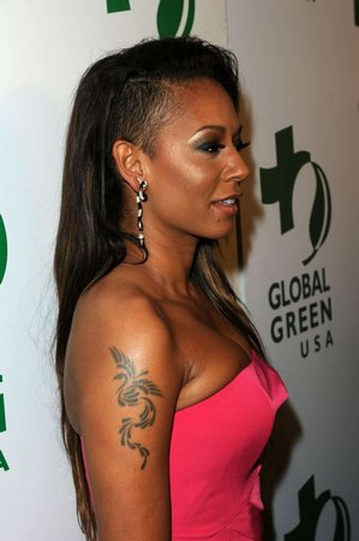 Singer Melanie Brown arrives at Global Green USA's 7th Annual Pre-Oscar Party at Avalon in Hollywood, California.