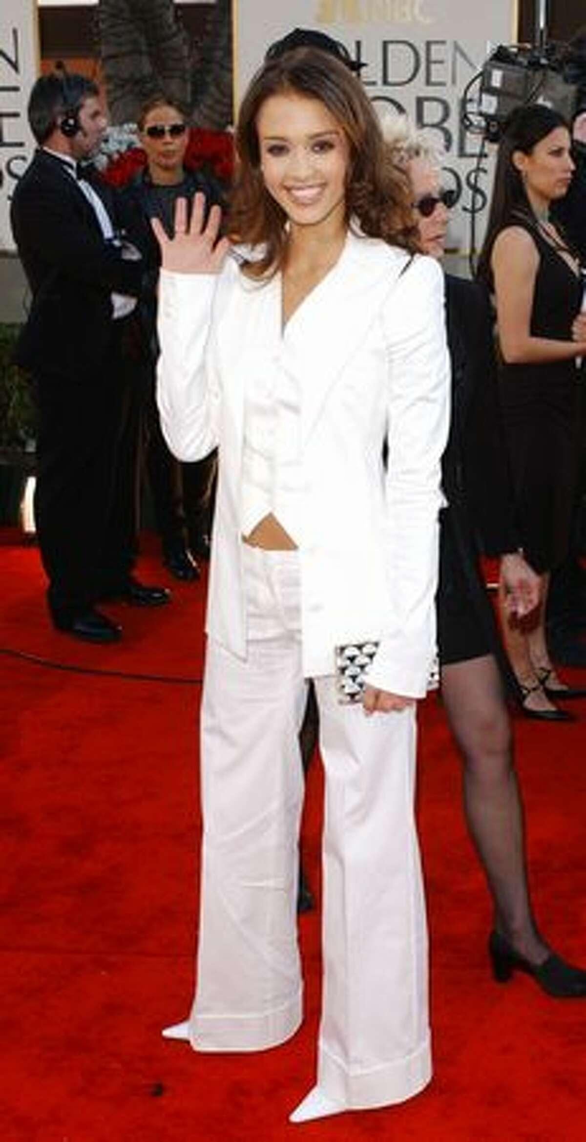 2002: Jessica Alba in Dolce & Gabbana.