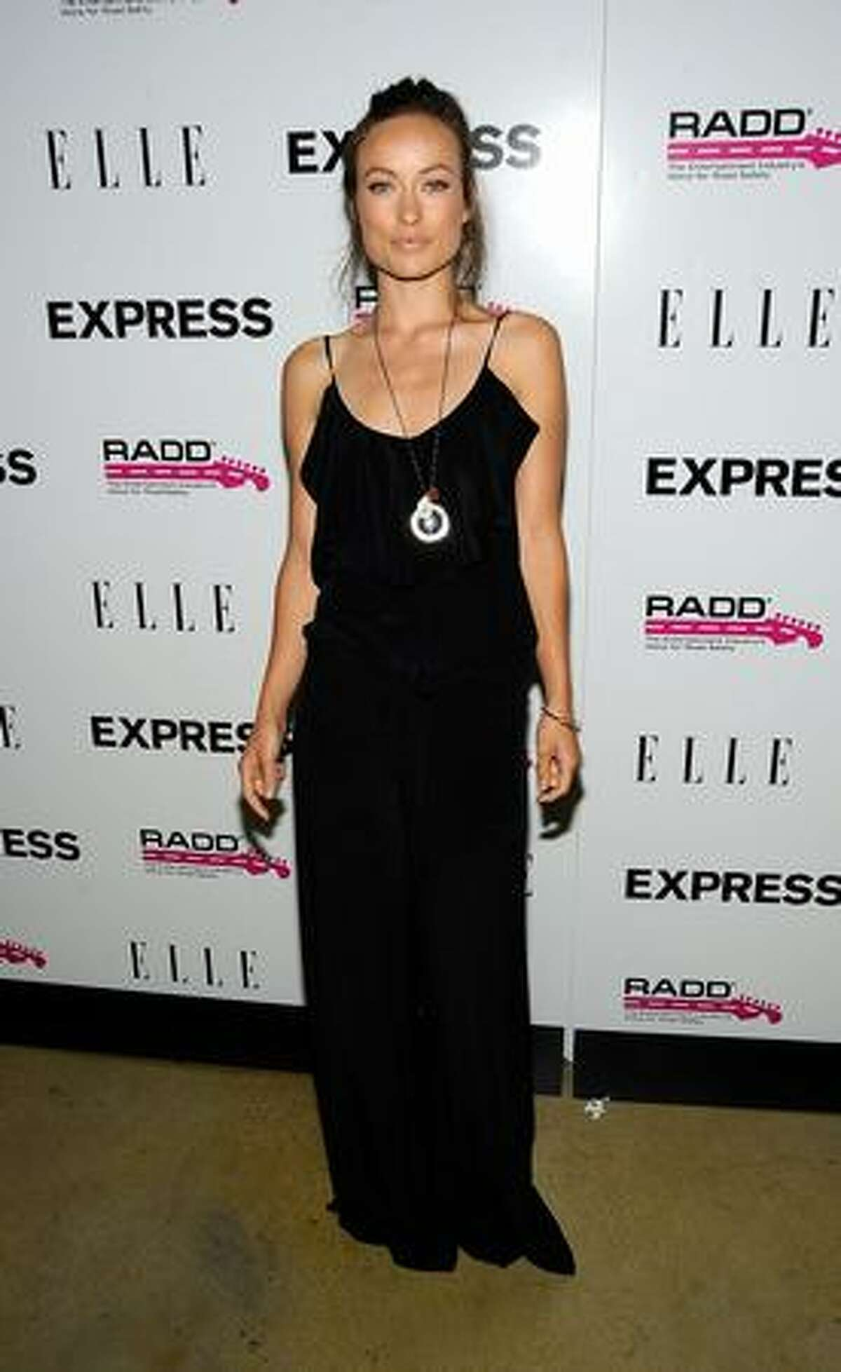 Actress Olivia Wilde arrives at the Express Celebrates TXT L8TR Campaign at Nobu in West Hollywood, California.