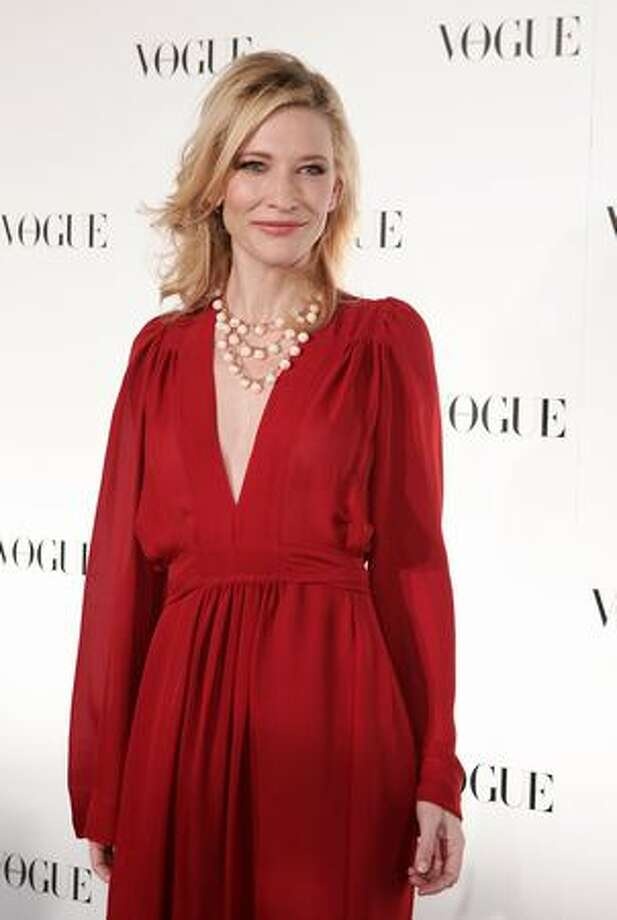 Cate Blanchett arrives for Vogue Australia's 50th Anniversary Party at Fox Studios in Sydney, Australia. Photo: Getty Images