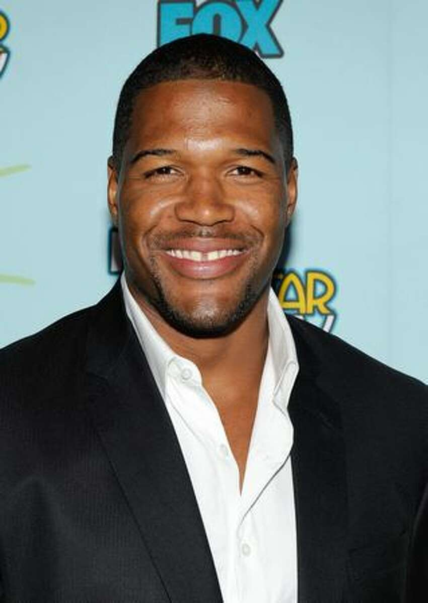 Actor Michael Strahan attends the 2009 FOX All-Star Party held at the Langham Hotel in Pasadena, California.