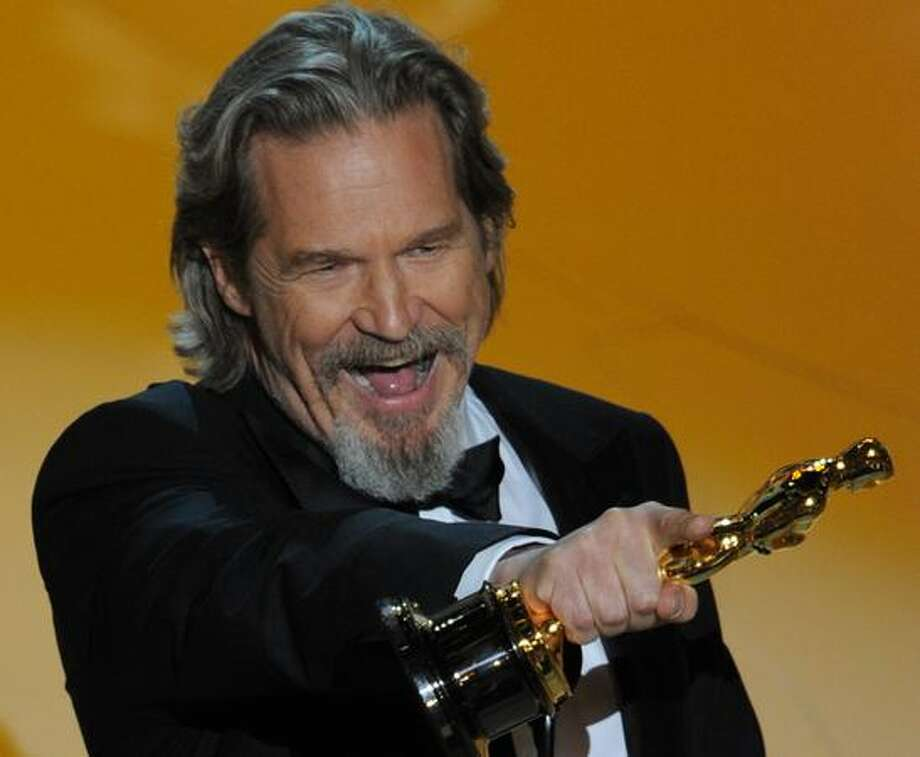 Winner for Actor in a Leading Role Jeff Bridges gives his acceptance speech at the 82nd Academy Awards at the Kodak Theater in Hollywood, California. Photo: Getty Images