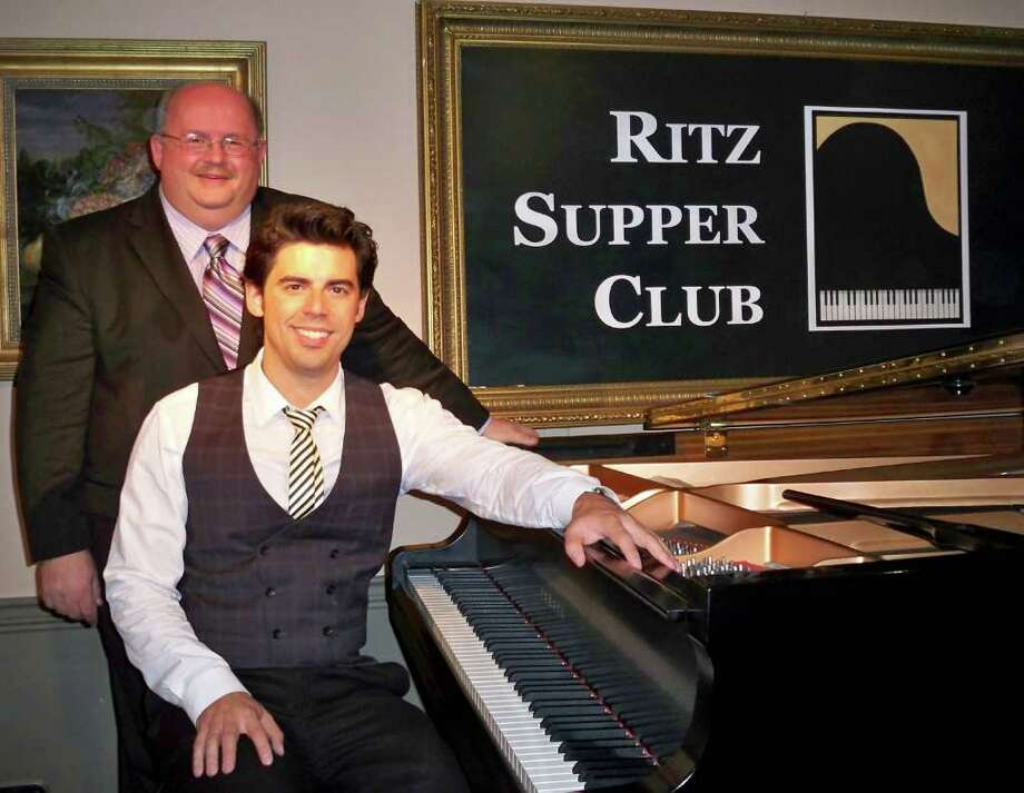 From left, producer Jeffrey Williams will be bringing the Ritz Supper Club to Stamford April 2, which will feature singer Hilary Kole. Later in season, on May 14, Williams will present Tony DeSare, seated at piano. The dinner and dance event will take place in the Rose Room at Stamford's Italian Center. Photo: Contributed Photo / Stamford Advocate Contributed