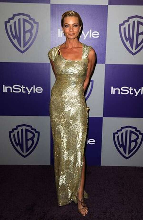 Actress Jaime Pressly arrives at the InStyle and Warner Bros. 67th Annual Golden Globes after party held at the Oasis Courtyard at The Beverly Hilton Hotel. Photo: Getty Images