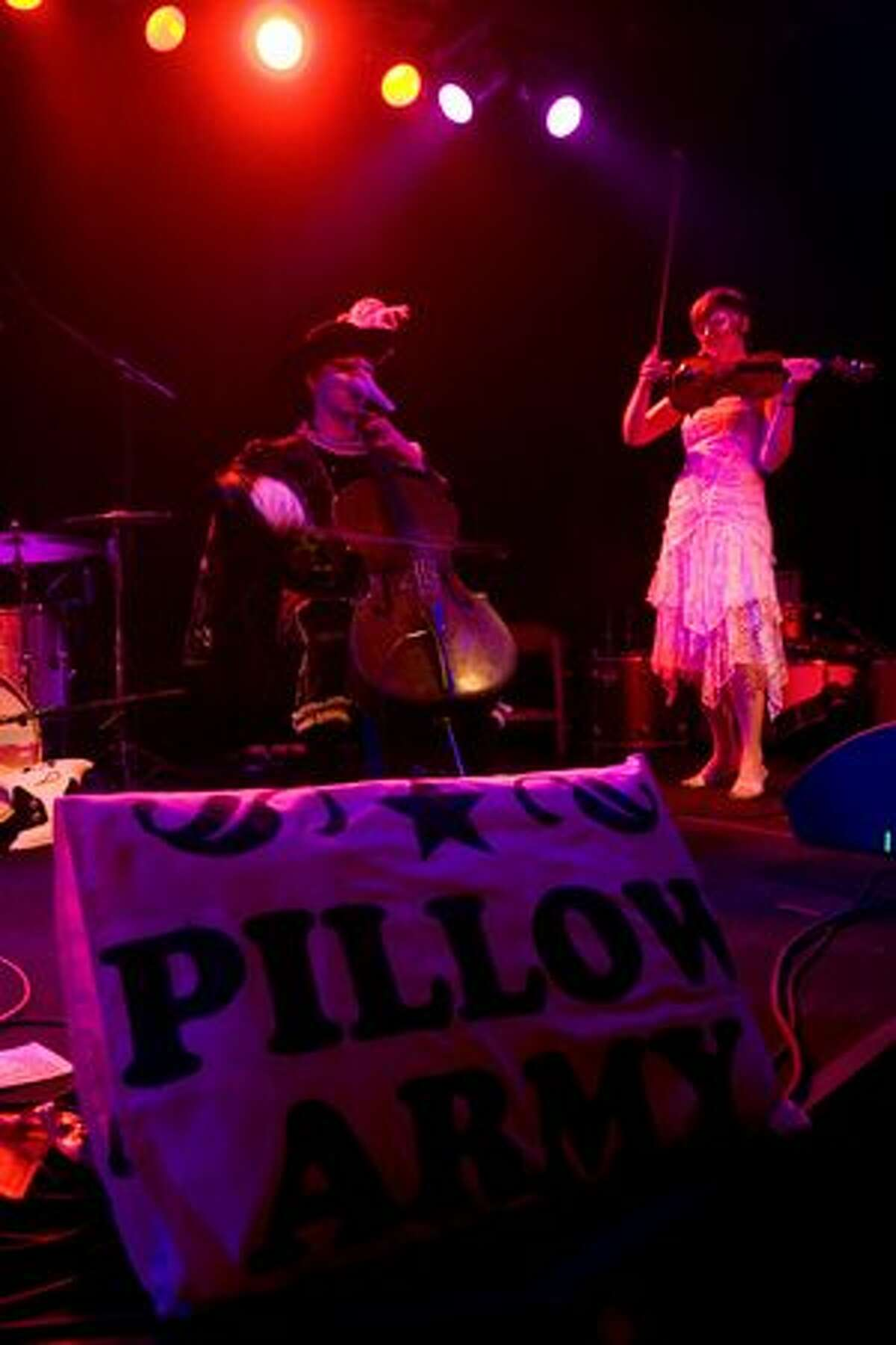 Pillow Army performs at The Crocodile for the Let's Get Lost CD release masquerade party on March 24, 2010.