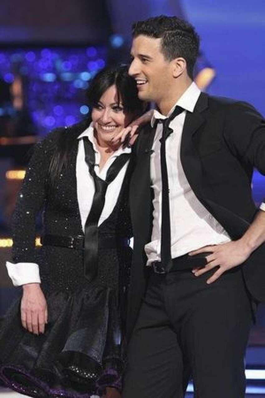 Actress Shannen Doherty and her partner, professional dancer Mark Ballas.