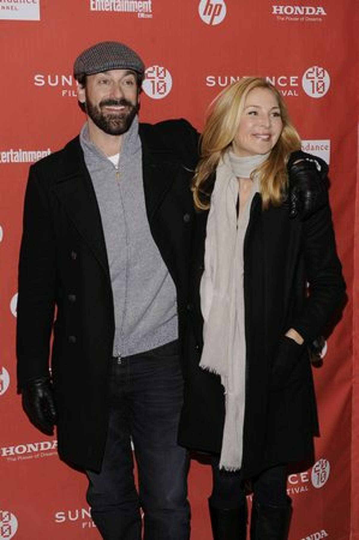 Actor Jon Hamm and Jennifer Westfeldt attend