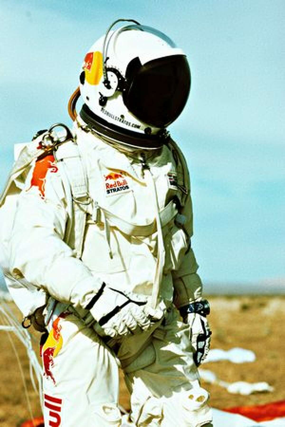 Felix Baumgartner in suit. (Sven Hoffmann/Red Bull Stratos)