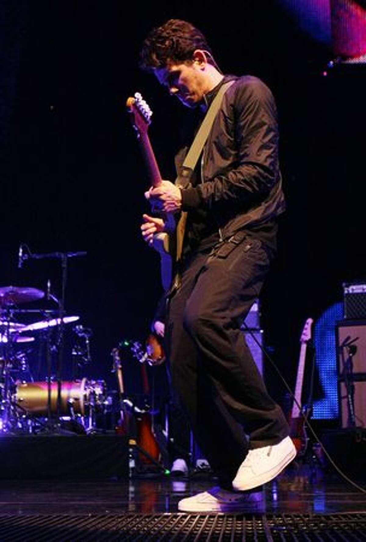 John Mayer performs at KeyArena.